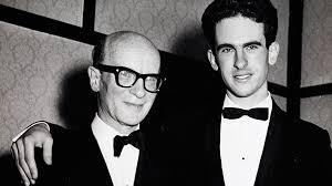 Roger Woodward, right, with his teacher, Alexander Sverjensky