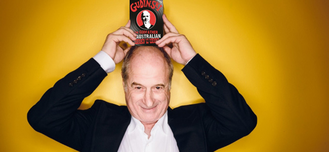 Michael Gudinski with the biography he didn't want written